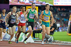 16/07/2017 : Michael McKillop (IRL), Liam Stanley (CAN), Kenzie Deon (AUS), Abbes Saidi (TUN), Men's 800m, T38, Final, at the 2017 World Para Athletics Championships, Olympic Stadium, London, United Kingdom
