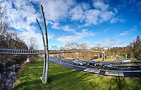 Den Haag , 24 februari 2016 - De Eekhoornbrug over de Benoordenhoutseweg in Den Haag. De  Foto: Phil Nijhuis