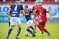 Fotball<br /> 29.04.2017<br /> Eliteserien<br /> Brann Stadion<br /> Brann - Haugesund<br /> Michael Ledger (L) og Claes Phillip Kronberg (3R) , Viking<br /> Kristoffer Barmen (2R) og Daniel Braaten (R) , Brann<br /> Foto: Astrid M. Nordhaug