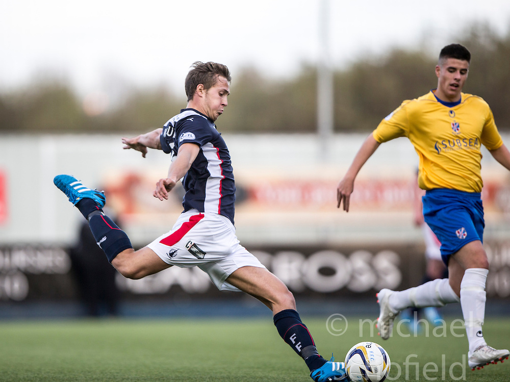 Falkirk's Will Vaulks.<br /> Falkirk 6 v 0 Cowdenbeath, Scottish Championship game played at The Falkirk Stadium, 25/10/2014.