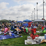 Infield spaces are a premium on the backstretch on Kentucky Derby Day in Louisville, Kentucky May 5, 2012.