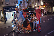 Pedicab, Covent Garden, . West End, t. London. 28 July 2016