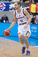 Slovenia Jaka Blazic during FIBA European Qualifiers to World Cup 2019 between Spain and Slovenia at Coliseum Burgos in Madrid, Spain. November 26, 2017. (ALTERPHOTOS/Borja B.Hojas)