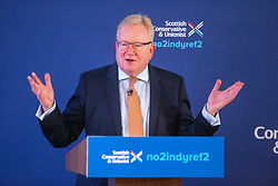 Leader of the Scottish Conservatives, Jackson Carlaw announces The Prime Minister, Boris Johnson launching the Scottish Conservative General Election Manifesto 2019 at the Hilton DoubleTree Hotel, St Margarets Head, Inverkeithing.