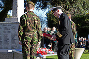 Ceremony of Remembrance at Seaford, East Sussex on 11 November 2012