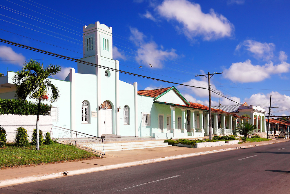 Church in Consolacion del Sur, Pinar del Rio Province, Cuba.