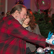 NLD/Hilversum/20151207- Sky Radio's Christmas Tree for Charity, Henk Schiffmacher en Ellen ten Damme