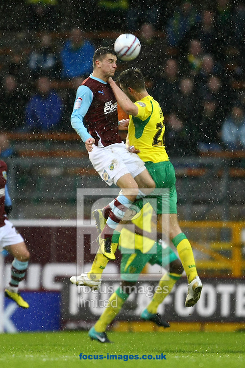 Burnley - Saturday February 5th, 2011: Elliot Ward of Norwich and Ross Wallace of Burnley in action during the Npower Championship match at Turf Moor, Burnley. (Pic by Paul Chesterton/Focus Images)