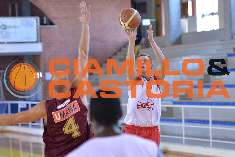 DESCRIZIONE : Viadana Trofeo del 50' esimo Lega A 2014-15 Dinamica Mantova Umana Venezia<br /> GIOCATORE : Gaddefors Viktor<br /> CATEGORIA :Tiro<br /> SQUADRA : Dinamica Mantova<br /> EVENTO :Torneo del 50'esimo<br /> GARA : Dinamica Mantova Umana Venezia<br /> DATA : 13/09/2014 <br /> SPORT : Pallacanestro <br /> AUTORE : Agenzia Ciamillo-Castoria/I.Mancini<br /> Galleria : Lega Basket A 2014-2015 Fotonotizia : Torneo del 50'esimo Lega A 2014-15 Dinamica Mantova Umana Venezia <br /> Predefinita :