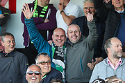 FGR supporters during the EFL Sky Bet League 2 second leg Play Off match between Forest Green Rovers and Tranmere Rovers at the New Lawn, Forest Green, United Kingdom on 13 May 2019.