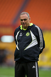 MOSCOW, RUSSIA - Tuesday, May 20, 2008: Chelsea's manager Avram Grant during training ahead of the UEFA Champions League Final against Manchester United at the Luzhniki Stadium. (Photo by David Rawcliffe/Propaganda)