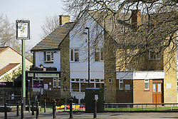 © Licensed to London News Pictures. 03/04/2017. Croydon, UK. The scene of a racial attack on a teenage asylum seeker by a gang of youths. Ten people have arrested, five charged and three remain in custody in relation with the incident which took place late on Friday evening.  Photo credit: Presspics/LNP