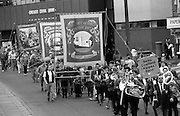 Wistow, Whitemoor and North Selby Branch banners. 1994 Yorkshire Miners Gala. Doncaster.