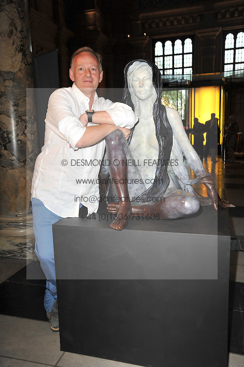 Artist JONATHAN WYLDER at a private view of a new collection of bronzes and original paintings by artist Jonathan Wylder and his muse Jennifer Wade held at the V&A Museum, London on 27th April 2011.