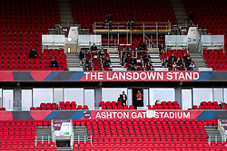 Bristol City CEO Mark Ashton and Bristol City Chairman Jon Lansdown in the Directors Box - Rogan/JMP - 28/08/2020 - Ashton Gate Stadium - Bristol, England - Bristol City v Sheffield Wednesday - Sky Bet Championship.