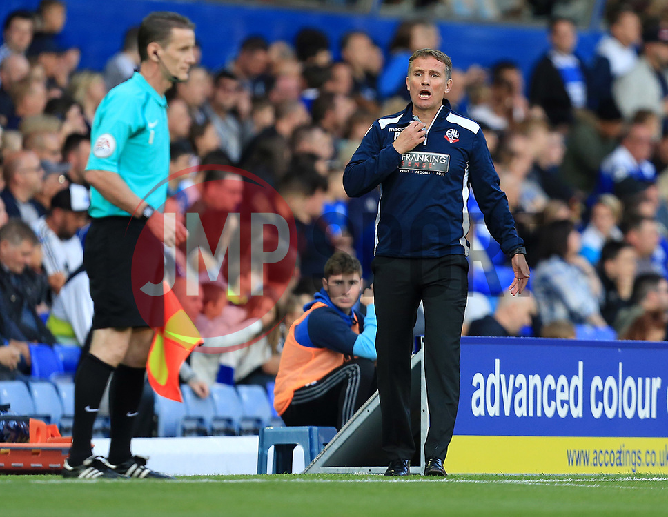 Bolton Wanderers manager Phil Parkinson - Mandatory by-line: Paul Roberts/JMP - 15/08/2017 - FOOTBALL - St Andrew's Stadium - Birmingham, England - Birmingham City v Bolton Wanderers - Sky Bet Championship