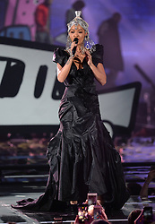 Rita Ora on stage during the MTV Europe Music Awards 2017 held at The SSE Arena, London. Photo credit should read: Doug Peters/EMPICS Entertainment