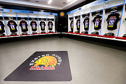 Shirts hang in the Exeter Chiefs dressing room ahead of the game - Rogan/JMP - 01/06/2019 - RUGBY UNION - Twickenham Stadium - Twickenham, England - Exeter Chiefs v Saracens - Gallagher Premiership FINAL.