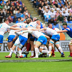 Italy win a penalty at the scrum during the Guinness Six Nations match between Italy and France on March 16, 2019 in Rome, Italy. (Photo by Dave Winter/Icon Sport)
