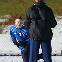 St Johnstone Training...03.02.03     Youngster Mark Baxter whose last minute goal salvaged a replay against Airdre tomorrow night training ins the snow this morning with Darren Dods.<br />see story by Gordon Bannerman.  Tel 01738 553978<br /><br />Picture by Graeme Hart.<br />Copyright Perthshire Picture Agency<br />Tel: 01738 623350  Mobile: 07990 594431