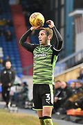 Plymouth Argyle Defender, Gary Sawyer (3)  during the EFL Sky Bet League 1 match between Oldham Athletic and Plymouth Argyle at Boundary Park, Oldham, England on 27 January 2018. Photo by Mark Pollitt.