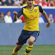 Jon Toral, Arsenal, in action during the New York Red Bulls Vs Arsenal FC,  friendly football match for the New York Cup at Red Bull Arena, Harrison, New Jersey. USA. 26h July 2014. Photo Tim Clayton
