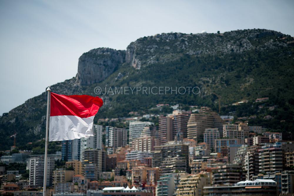 May 23-27, 2018: Monaco Grand Prix. Atmosphere, Monaco flag