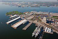 Aerial Image of North Locust Point at the  Port of Baltimore, Maryland