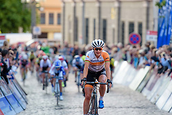 Marianne Vos (Rabo Liv) wins the opening stage at Thüringen Rundfarht 2016. Stage 1 a 67km road race starting and finishing in Gotha, Germany on 15th July 2016.