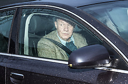 "© Licensed to London News Pictures. 01/12/2017. Ashford, UK. First Secretary of State DAMIAN GREEN seen leaving his Kent home. The findings of an inquiry in to the conduct of MP Damian Green are due to be released, following allegations that ""extreme"" pornography was found on his computer during a police raid in 2018. Green was already under investigation for allegedly propositioning a former Tory activist, Kate Maltby. Photo credit: Peter Macdiarmid/LNP"