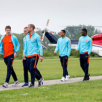 """Nederland,Leeuwarden, 28 mei 2014.<br /> Oranje-fandag georganiseerd door ING bij voetbalvereniging Blauw Wit"""" 34 Leeuwarden.<br /> <br /> Foto: Jean-Pierre Jans"""