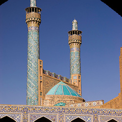 Iman´s mosque minarets, Isfahan, Iran