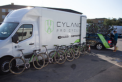 Cylance Pro Cycling bikes are ready for the Crescent Vargarda - a 152 km road race, starting and finishing in Vargarda on August 13, 2017, in Vastra Gotaland, Sweden. (Photo by Balint Hamvas/Velofocus.com)