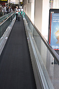 A moving walkway in Barcelona Airport. Barcelona. Spain 2013