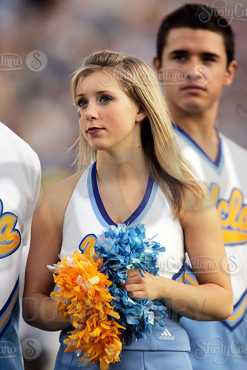 11 November 2006:  Chantal of the UCLA Spirit Squad during the UCLA Bruins 25-7 win over the Oregon State Beavers Pac-10 college football game at the Rose Bowl.<br />