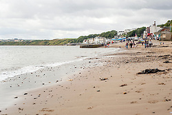 View south from the beaches at Filey Brigg towards Cable Landing and Filey seafront North Yorkshire