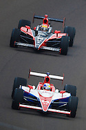 24 May 2009:    14 Vitor Meira and 18 Justin Wilson  the  Indianapolis 500. Indianapolis Motor Speedway Indianapolis, Inidiana.