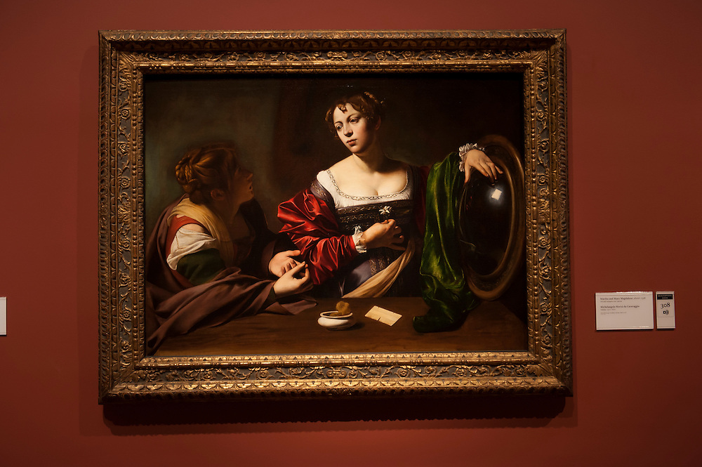 Martha and Mary Magdalene, about 1598. Michelangelo Merisi da Caravaggio, Italian, 1571-1610.<br /> Art in Detroit 2013<br /> &copy; Stefan Falke<br /> www.stefanfalke.com