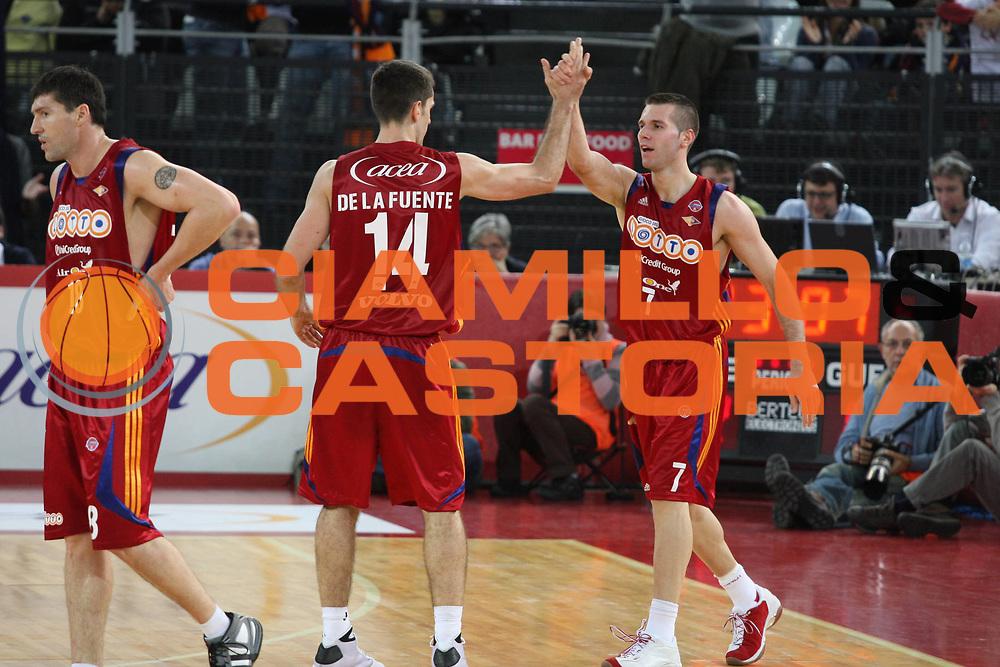 DESCRIZIONE : Roma Lega A1 2008-09 Lottomatica Virtus Roma La Fortezza Virtus Bologna<br /> GIOCATORE : Sani Becirovic<br /> SQUADRA : Lottomatica Virtus Roma<br /> EVENTO : Campionato Lega A1 2008-2009<br /> GARA : Lottomatica Virtus Roma La Fortezza Virtus Bologna<br /> DATA : 30/11/2008<br /> CATEGORIA : Esultanza<br /> SPORT : Pallacanestro<br /> AUTORE : Agenzia Ciamillo-Castoria/G.Ciamillo