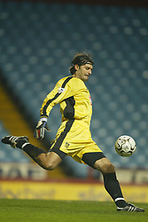 BIRMINGHAM, ENGLAND - Tuesday, January 6, 2004: Portsmouth's goalkeeper Pavel Srnicek in action against Aston Villa during the Premiership match at Villa Park.. (Pic by David Rawcliffe/Propaganda)