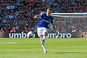 Lucas Digne (12) of Everton takes a free kick during the Premier League match between Bournemouth and Everton at the Vitality Stadium, Bournemouth, England on 15 September 2019.