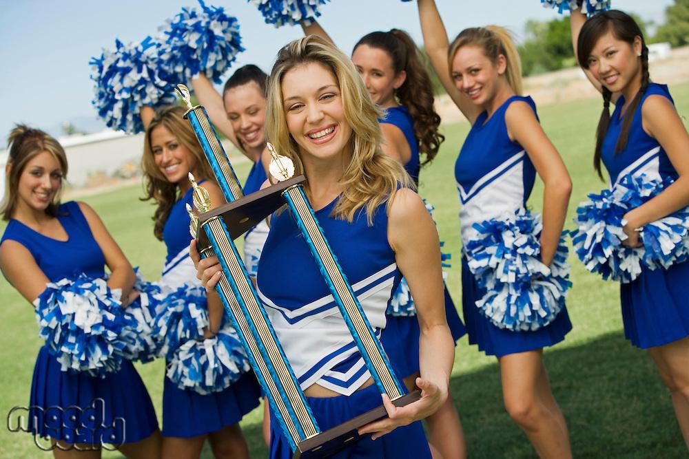Cheerleaders Celebrating Victory