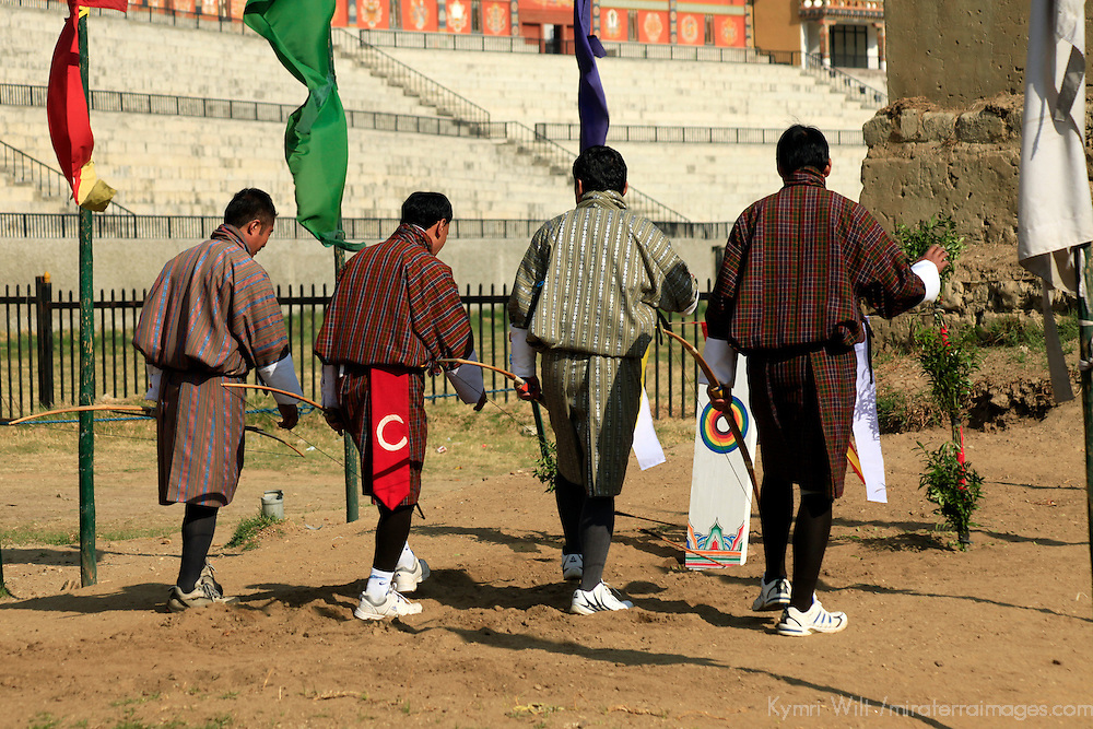 Asia, Bhutan, Thimpu. Archery is the national sport of Bhutan, and the teams will dance and chant when the target is hit.