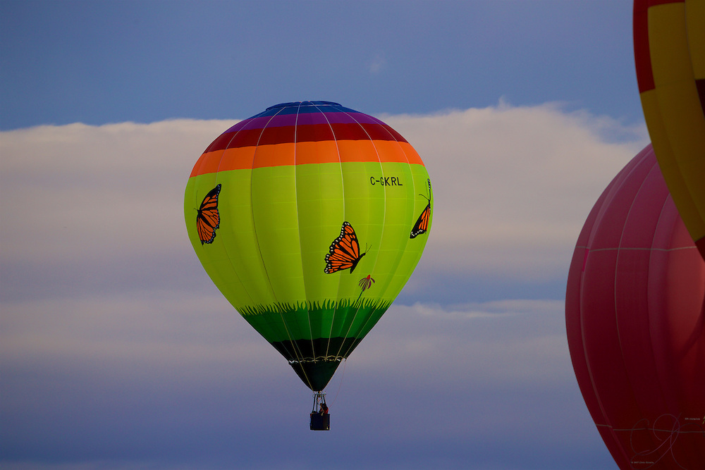 Butterflies when lifting off with approaching weather - but still a good morning to fly!