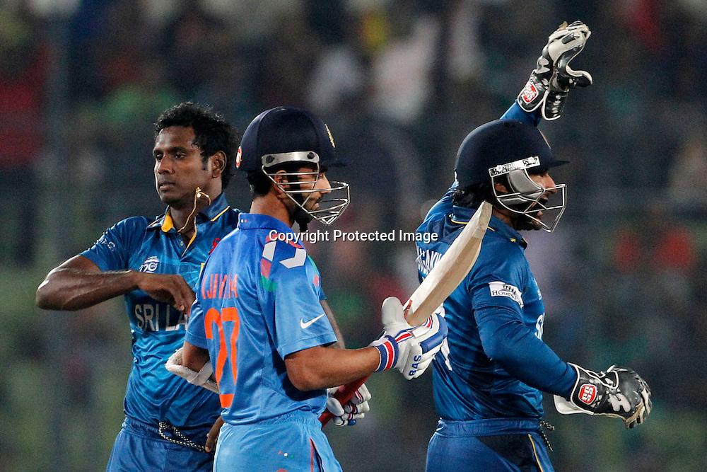 Sri Lanka Celebrate, ICC T20 cricket World Cup Final - Sri Lanka v India, Sher-e-Bangla National Cricket Stadium, Mirpur, Bangladesh, 6 April 2014. Photo: www.photosport.co.nz