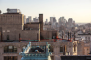 New York. midtown elevated view .midtown panorama, water tanks on rooftops  New York - United states