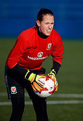 SAINT PETERSBURG, RUSSIA - Monday, October 23, 2017: Wales' goalkeeper Laura O'Sullivan during a training session at the Petrovsky Minor Sport Arena ahead of the FIFA Women's World Cup 2019 Qualifying Group 1 match between Russia and Wales. (Pic by David Rawcliffe/Propaganda)