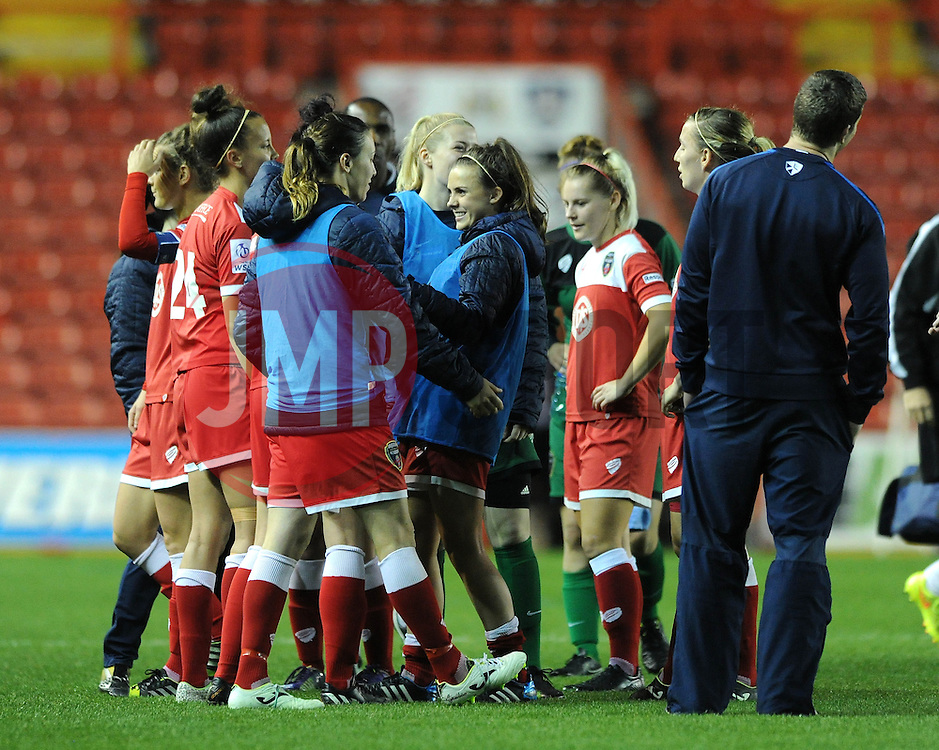 Bristol Academy win 2 - 1 - Photo mandatory by-line: Dougie Allward/JMP - Mobile: 07966 386802 - 16/10/2014 - SPORT - Football - Bristol - Ashton Gate - Bristol Academy v Raheny United - Women's Champions League