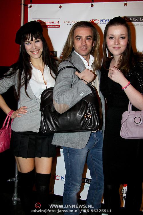 NLD/Amsterdam/20100215 -  inloop verkiezing Miss i Love Fashion, Beertje van Beers, Tom Sebastian en Mascha