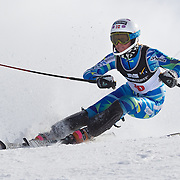 Kristine Gjelsten Haugen, Norway, in action during the Women's Slalom event during the Winter Games at Cardrona, Wanaka, New Zealand, 24th August 2011. Photo Tim Clayton...